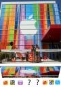 Fachada do Yerba Buena Center ja esta decorado para o evento do dia 12, e apresenta uma grandecuriosidade